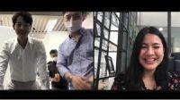 Felicya Angelista video call dengan Song Joong Ki. Foto: Youtube Felitogether Official.